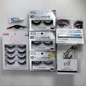 86989643516 Sephora Makeup | Kiss Ardell Faux Mink Lash Lot Glue Curler | Poshmark